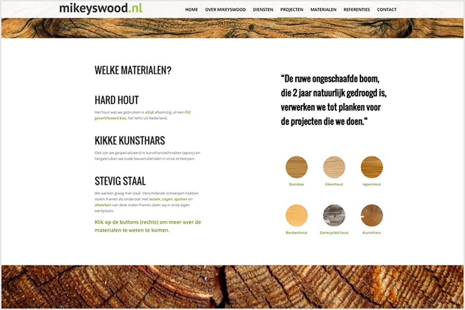 Mikeyswood - website - door Studio Formgiving