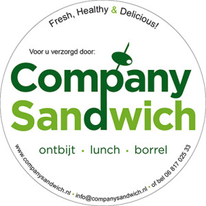 Sticker, 950 mm rond | Company Sandwich | door Studio Formgiving