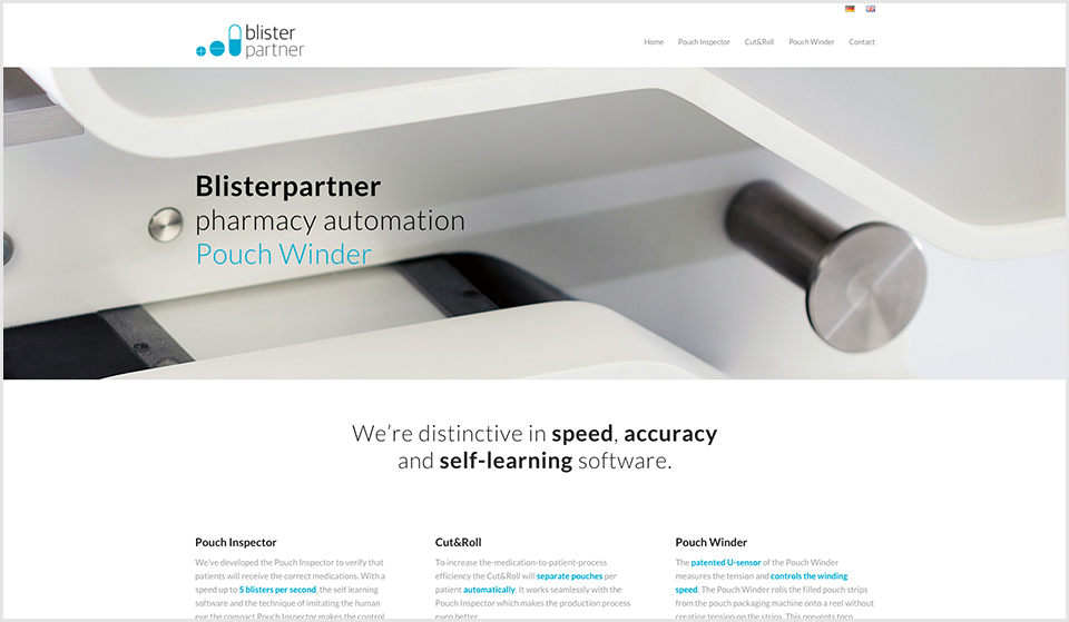 Blisterpartner - website - home page - door Studio Formgiving