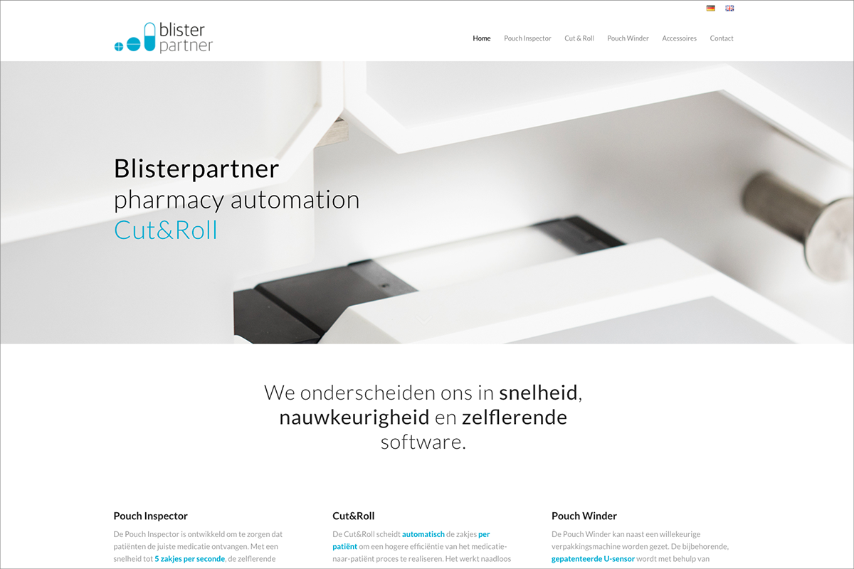 Blisterpartner • website door Studio Formgiving