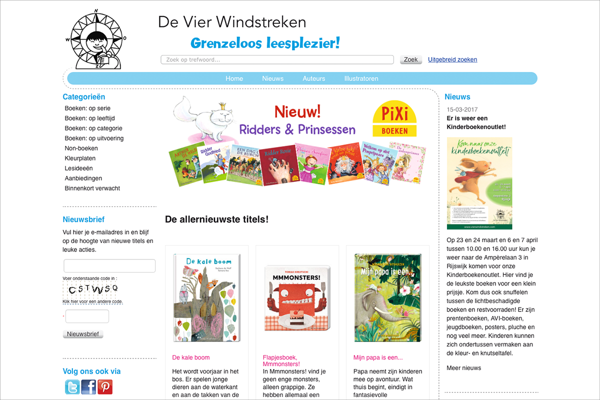 De Vier Windstreken • website door Studio Formgiving