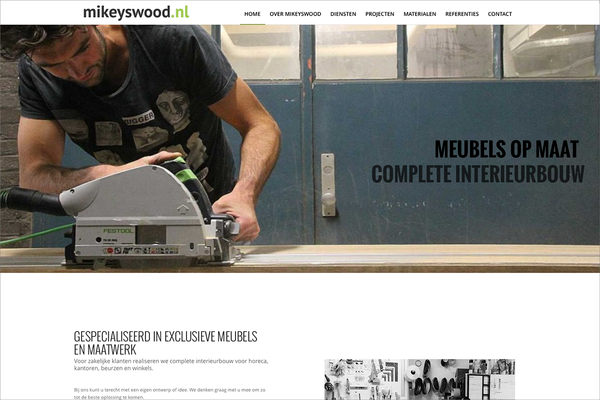 Mikeyswood • website door Studio Formgiving