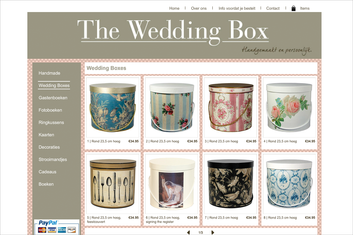 The Wedding Box • website door Studio Formgiving