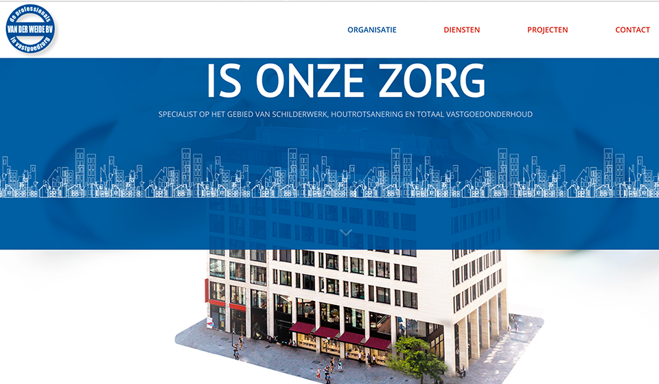 Website Van der Weide door Studio Formgiving