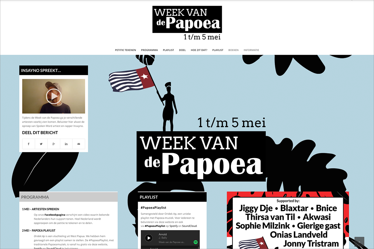 Week van de Papoea • website door Studio Formgiving