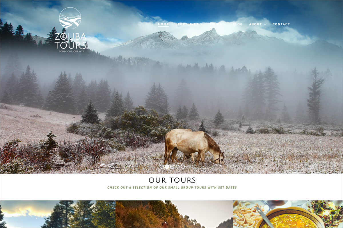 Zouba tours • website door Studio Formgiving